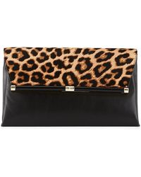 Diane von Furstenberg Large Calf-Hair Envelope Bag - Lyst