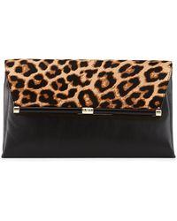 Diane von Furstenberg Large Calf-Hair Envelope Bag - Lyst
