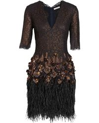 Matthew Williamson Embellished Metallic-lace and Tulle Dress - Lyst