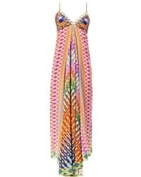 Camilla Zigzag Silk Maxi Dress multicolor - Lyst