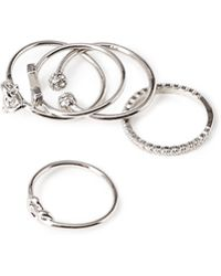 Forever 21 Mixed Midi Ring Set - Lyst