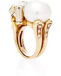 Helen Yarmak International - One Of A Kind Beryl Pearl and Diamond Ring - Lyst