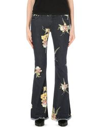 Free People Kick-Flare Stretch-Denim Jeans - Lyst