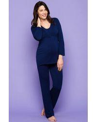 Amoralia - Printed Jersey Maternity Pajama Pants - Lyst