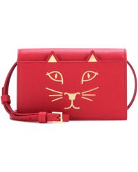Charlotte Olympia Feline Purse Leather Shoulder Bag - Lyst