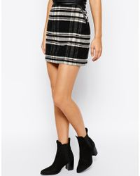 Oasis Check Skirt - Lyst