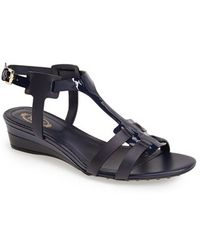 Tod's Bicolor Demi Wedge Sandal - Lyst