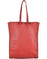 Stefanel Leather Tote Bag - Lyst