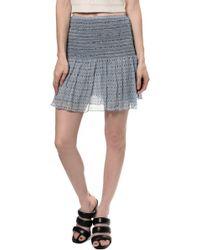 Ulla Johnson Kenza Mini Skirt blue - Lyst