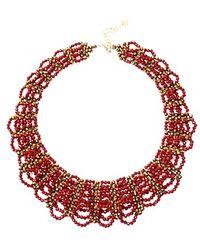 Nakamol - Lizbeth Crystal Necklace-red - Lyst