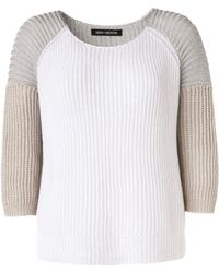 Iris Von Arnim Short Sweater Naomi gray - Lyst