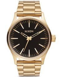 Nixon 'The Sentry 38 Ss' Watch gold - Lyst