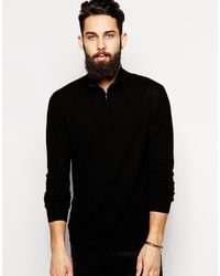 Asos Merino Funnel Neck Jumper - Lyst