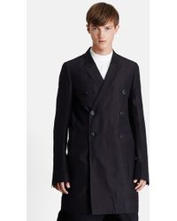 Rick Owens Men'S Trim Fit Double Breasted Cotton & Silk Trench Jacket - Lyst