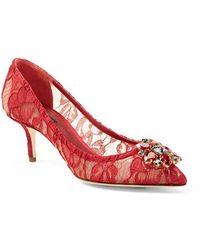 Dolce & Gabbana Pointy Toe Pump - Lyst