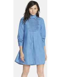 AG Adriano Goldschmied Women'S Alexa Chung For 'The Julie' Pintuck Pleat Dress - Lyst