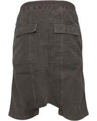 DRKSHDW by Rick Owens Drawstring Drop Crotch Shorts Dark Dust - Lyst