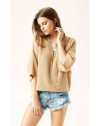 Free People Rayanne Shaker Sweater - Lyst