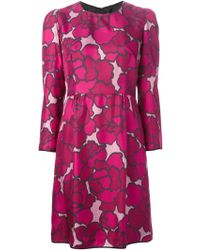 Marc Jacobs Floral Print Dress - Lyst