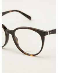 Celine Big Deep Rpund Glasses - Lyst