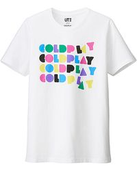 Uniqlo Music Icons Graphic Short Sleeve T-Shirt (Coldplay) - Lyst