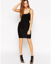 Asos Cut Out Back Strappy Mini Body-Conscious Dress - Lyst