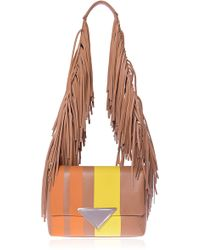Sara Battaglia Solar Stripe Medium Teresa Shoulder Bag - Lyst