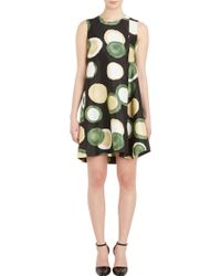Marni Circle Print Twill Dress - Lyst