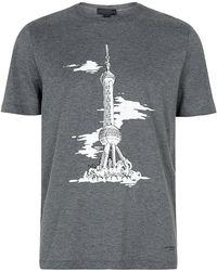 Burberry Prorsum Shanghai Landmark Tshirt - Lyst