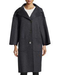 Michael Kors 3-button Wool Car Coat - Lyst