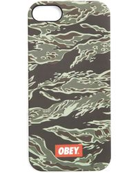 Obey Tiger Camouflage Iphone 5 Case - Lyst