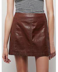 Free People | Womens Zip To It Vegan Leather Mini Skirt | Lyst