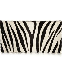 Tamara Mellon - Fever Zebra-Print Calf Hair Clutch - Lyst