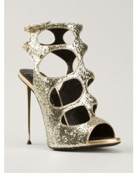 Giuseppe Zanotti Glitter Sandals - Lyst