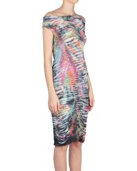 Amen Viscose And Silk Dress With Lion Print - Lyst