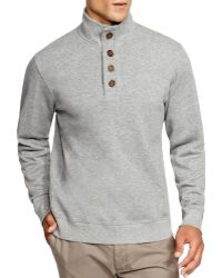 Brooks Brothers - New Canaan Button Mock Neck Pullover - Lyst