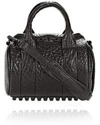 Alexander Wang Mini Rockie In Pebbled Black With Matte Black - Lyst