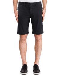 Diesel Black Chino Shorts - Lyst