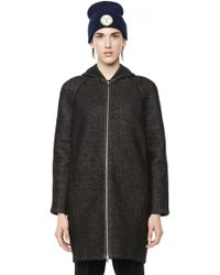 Alexander Wang | French Terry and Scuba Hooded Coat | Lyst