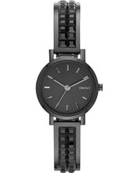 DKNY Womens Soho Black Ion-plated Stainless Steel Bangle Bracelet Watch 24mm - Lyst