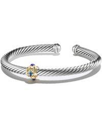 David Yurman Renaissance Bracelet With Blue Topaz, Lapis Lazuli And 14K Gold silver - Lyst
