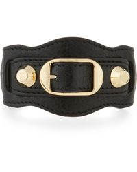 Balenciaga - Classic Leather Single-strap Bracelet - Lyst