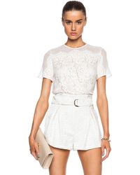 Lover Cresent Top white - Lyst