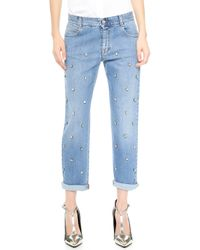 Stella McCartney The Tomboy Jeans with Embroidery   - Lyst