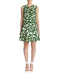 Kate Spade Garden Leaves-Print Dress - Lyst