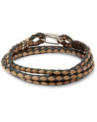 Paul Smith Wovenleather Wrap Bracelet - Lyst