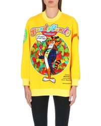 Moschino Dandy Candy Sweatshirt Yellow - Lyst
