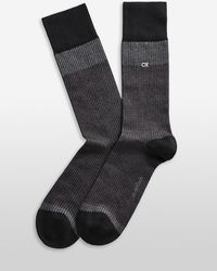 Calvin Klein Ombre Jacquard Crew Socks - Lyst