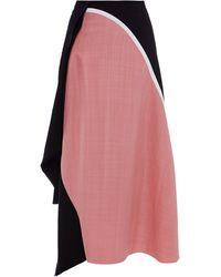 Marni Tussah Silk Viscose Weave Skirt - Lyst