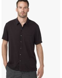 James Perse Brushed Cotton Polo - Online Exclusive black - Lyst